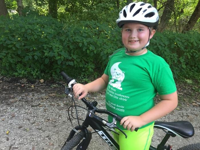 Evan on his bike - NCR Trail