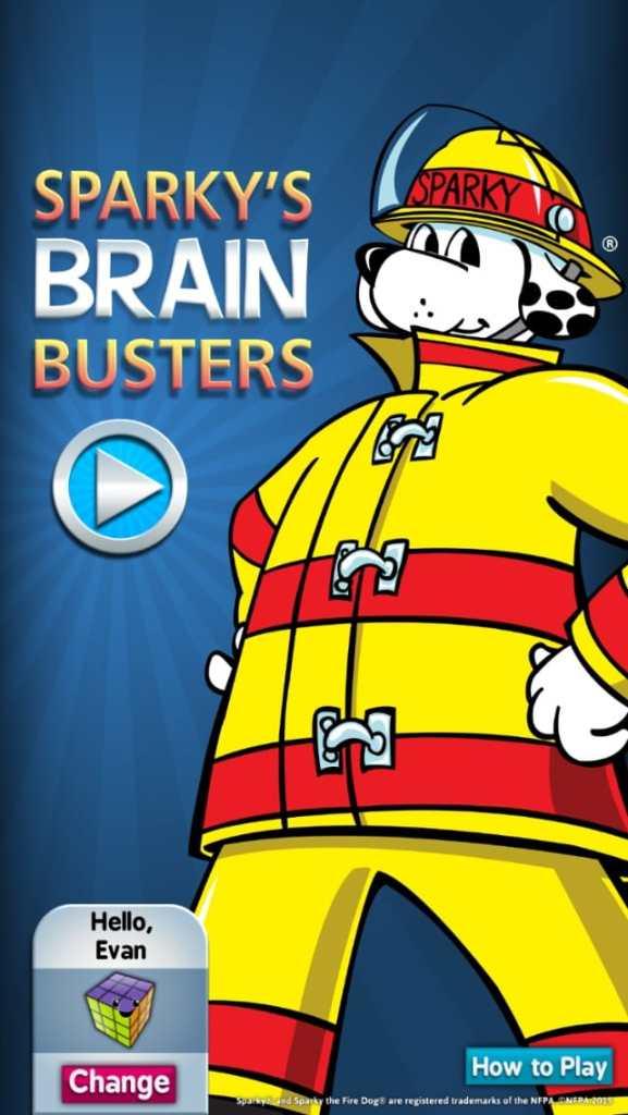 Sparky's Brain Buster app