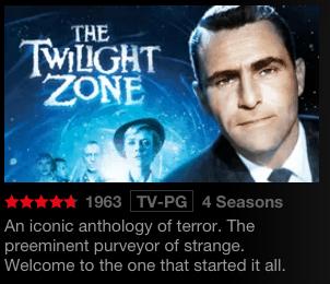 The Twilight Zone on Netflix