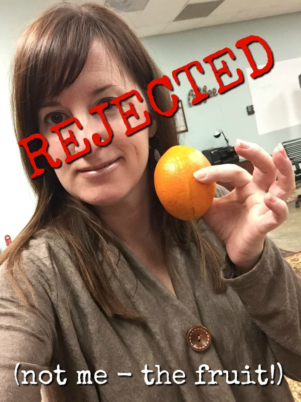 Rejected orange