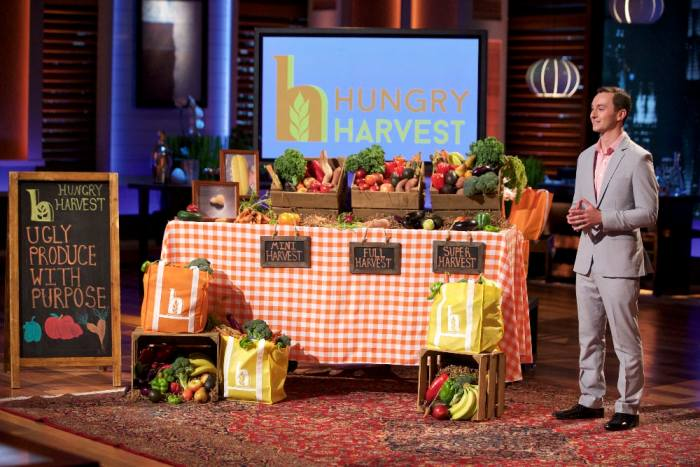 """SHARK TANK - """"Episode 715"""" - Three friends from Oakland, CA try to sell the sharks on a breath freshener that has dual uses; a woman from Parker, CO seeks a huge valuation for a functional kid's placemat; and a 23-year-old Baltimore man wants to fight hunger and help the environment with his """"ugly"""" produce subscription service -- will the sharks find it attractive? Plus, a follow up on the Houston-based founders of LuminAid, inflatable, solar-powered lights in which Mark Cuban invested during Season Six on """"Shark Tank,"""" FRIDAY, JANUARY 8 (9:00-10:01 p.m. EST), on the ABC Television Network. (ABC/Tyler Golden) EVAN LUTZ (HUNGRY HARVEST)"""