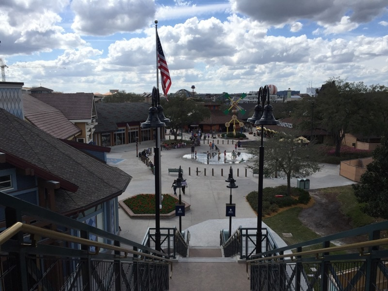 Pedestrian walkway to Disney Springs