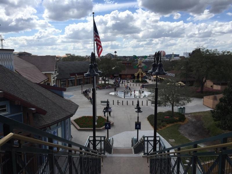 Pedestrian walkway to Disney Springs