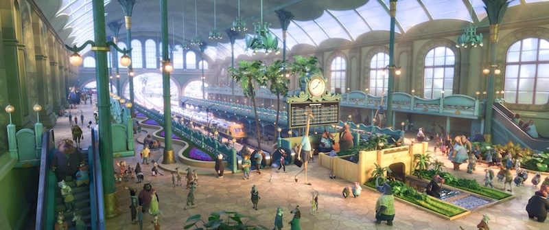 Zootopia train station