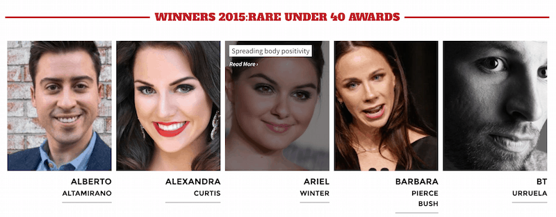 Rare Under 40 Award recipients