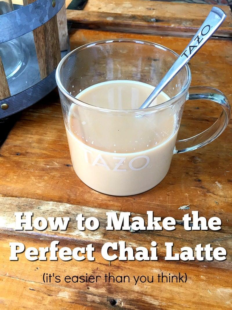 Making the Perfect Chai Latte