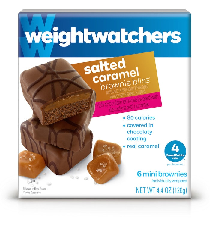 Weight Watchers Sweet Baked Goods Salted Caramel Brownie Bliss bites