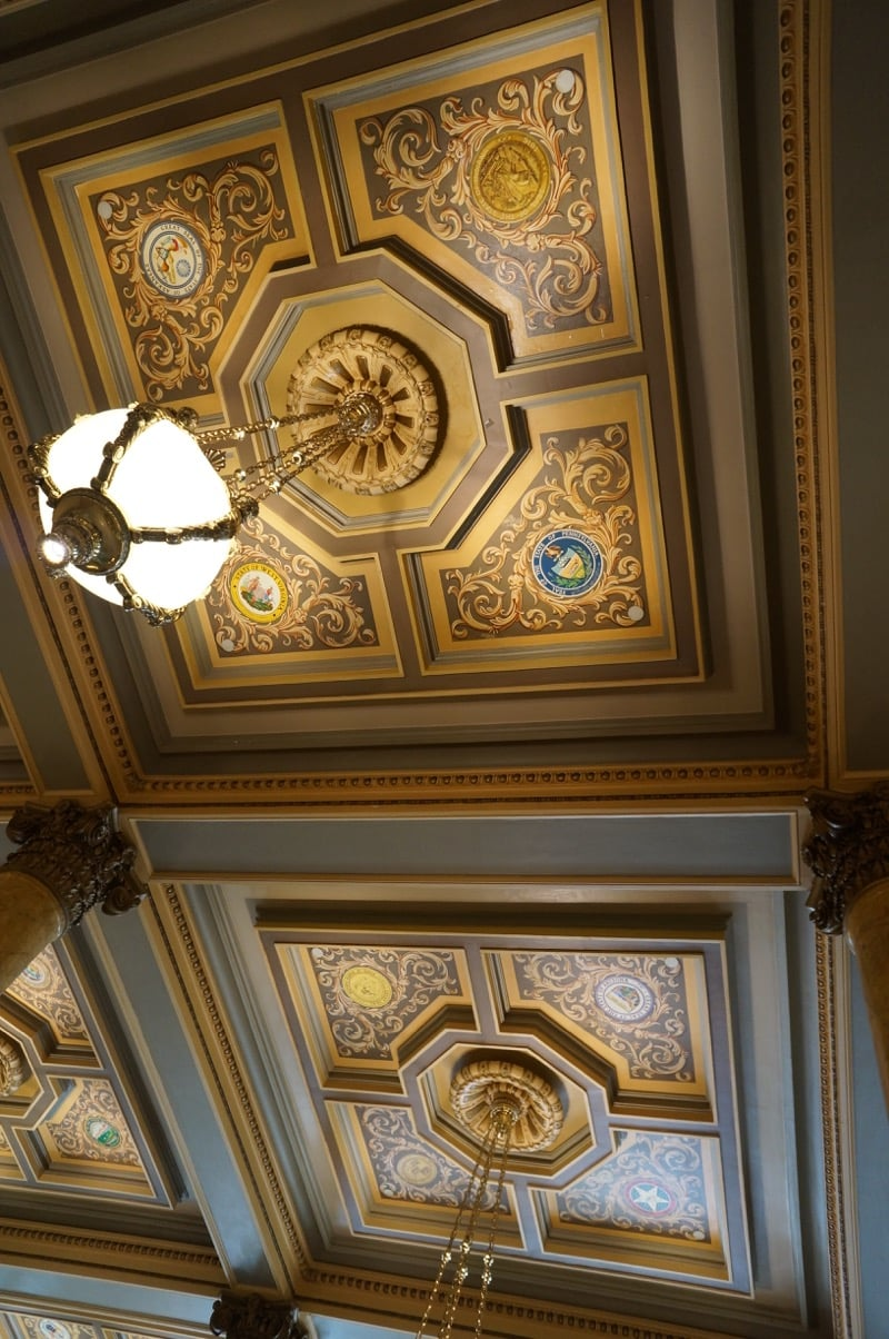 Ceiling of the Willard