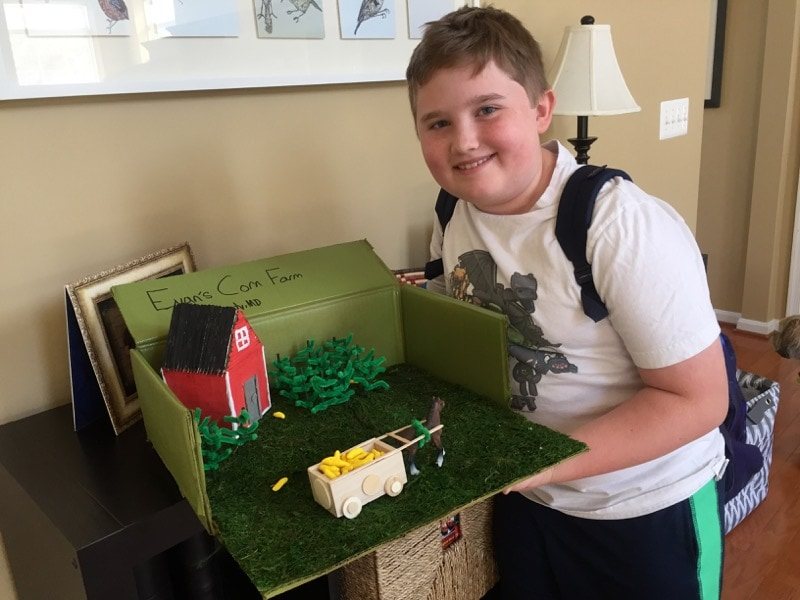 Evan and his corn farm