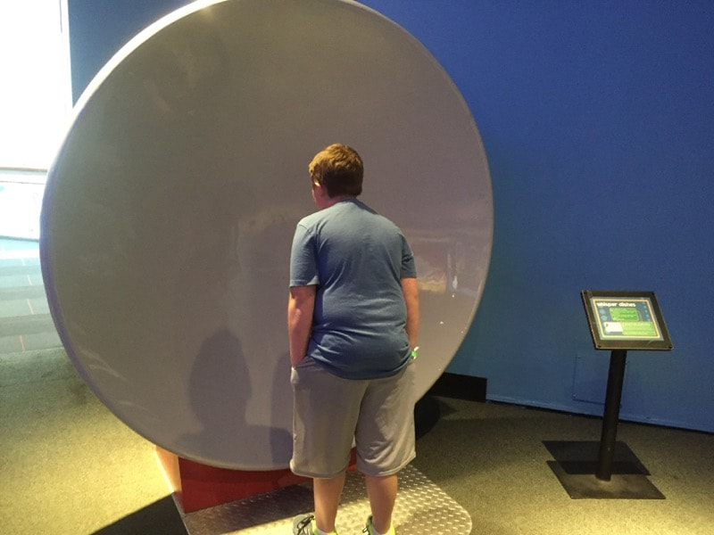 Whisper Dishes - Maryland Science Center