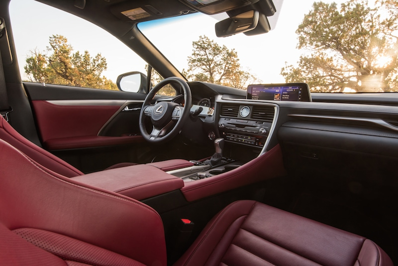 Rioja Red leather interior - Lexus RX350