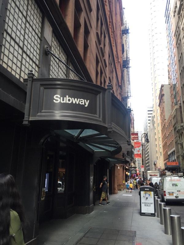Subway stop in Lower Manhattan