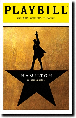 Hamilton Playbill cover