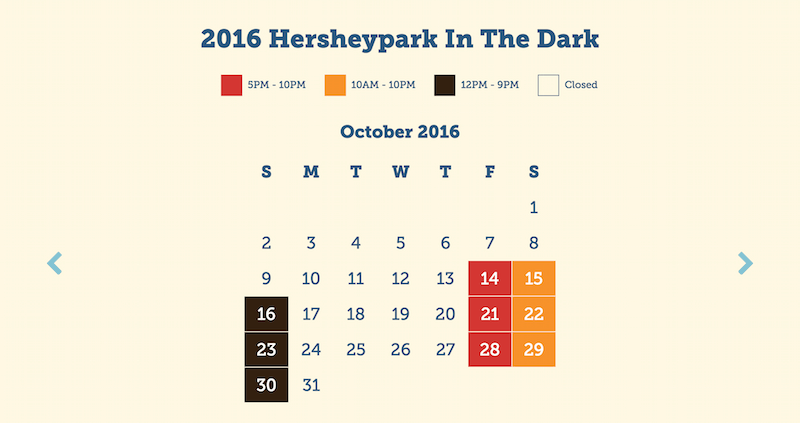 Hersheypark Fall Hours