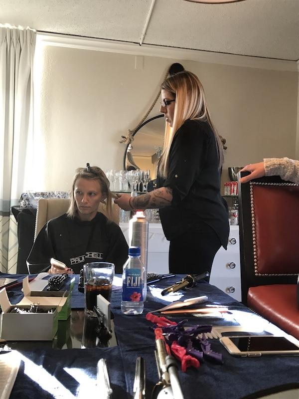 Ashley getting glam
