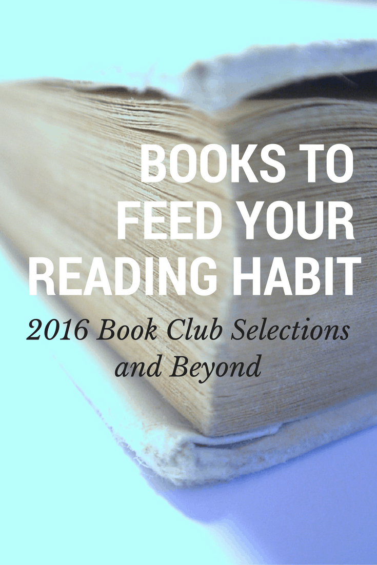 2016 book club books