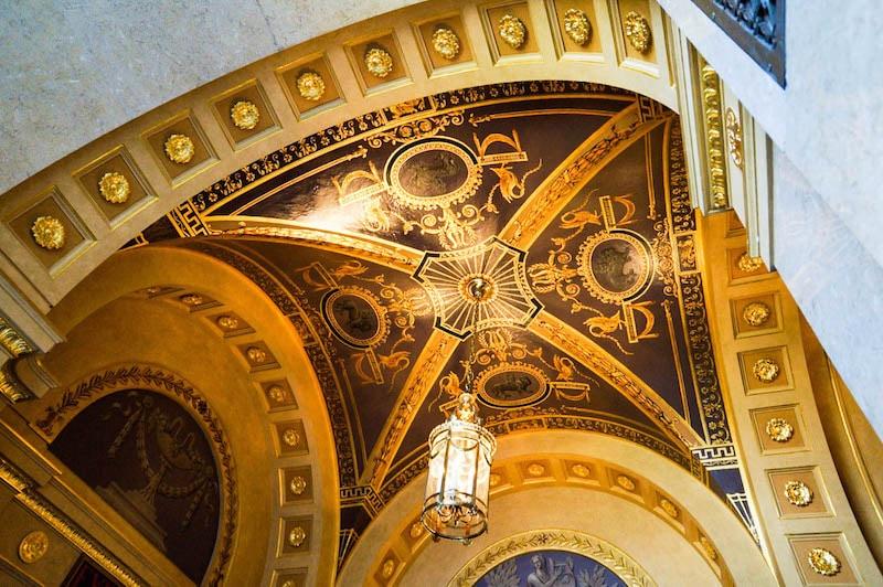 Hershey Theatre lobby ceiling