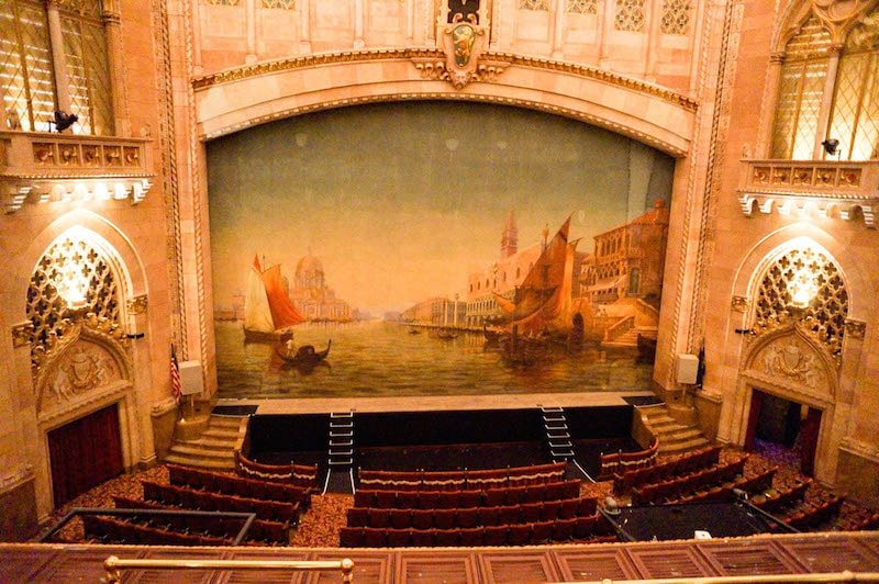 Hershey Theatre stage screen