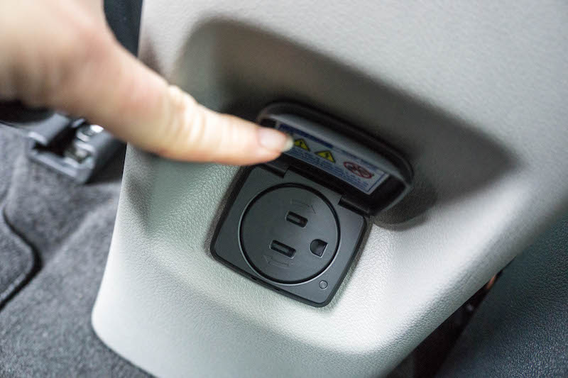 Kia Niro - rear outlet