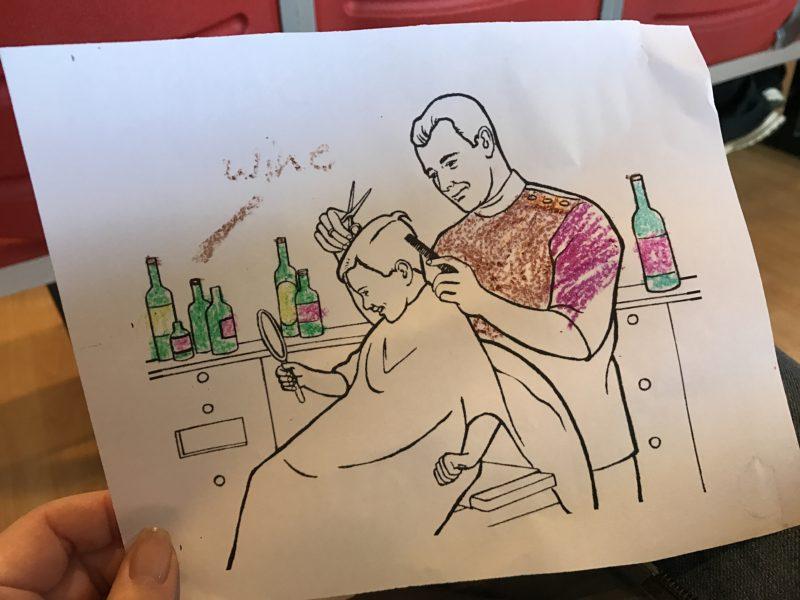 Barber coloring sheet