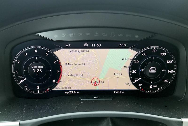 In dash navigation