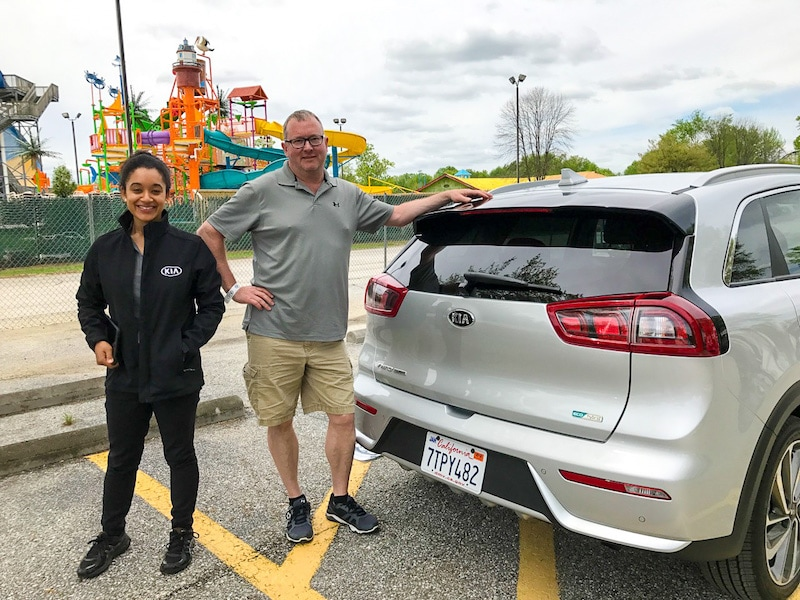 Kia Niro at the Kia Ride and Drive