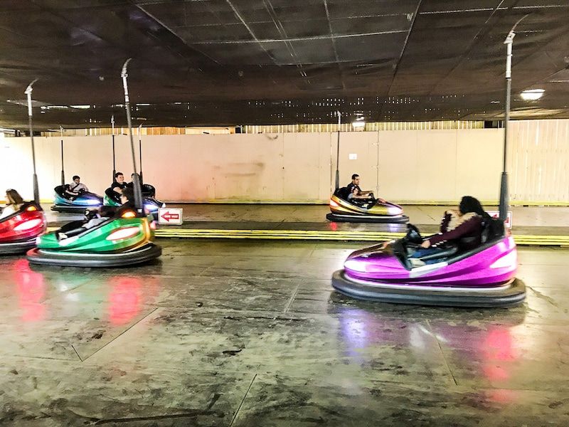 Six Flags bumper cars