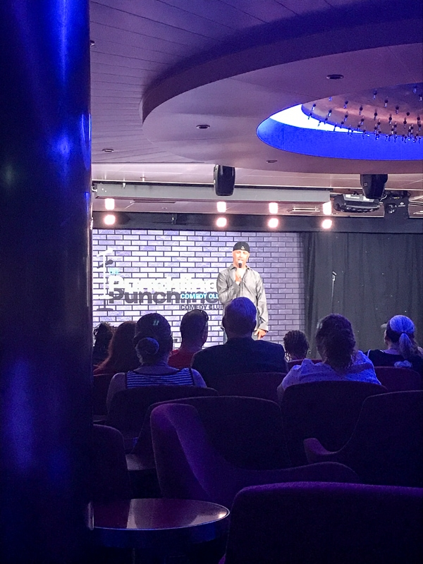 Stand up comedy - Carnival Vista