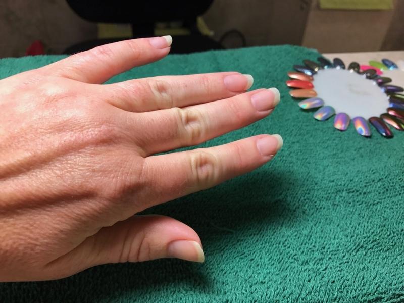 Nail color selection process - Darrell Barrett Salon