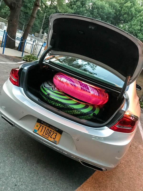 Pool floats in trunk - Buick LaCrosse