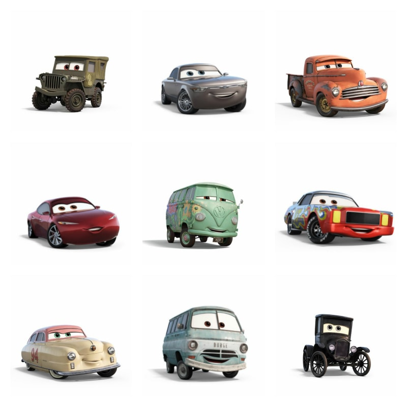 The cars of Cars 3