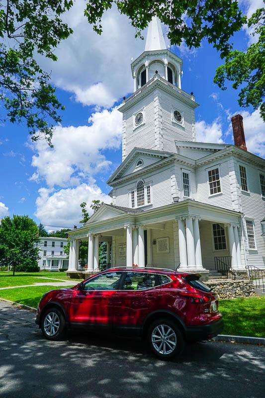New England church steeple -Nissan Rogue Sport