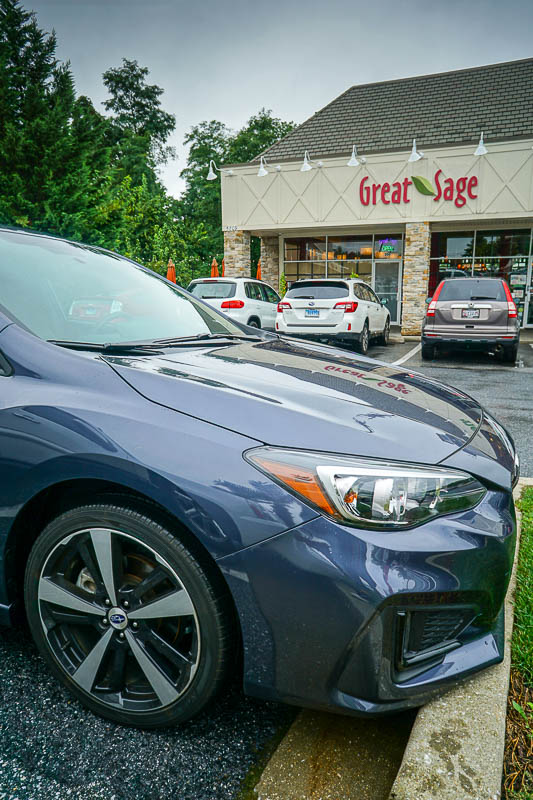 2017 Subaru Impreza outside The Great Sage