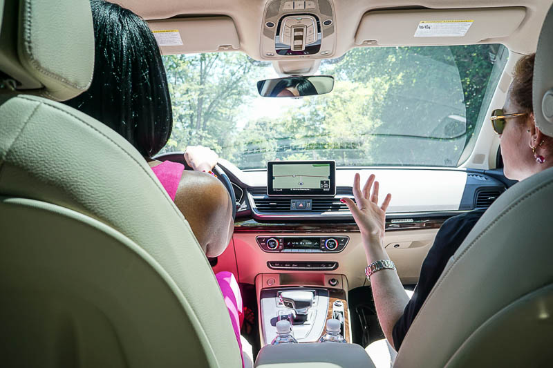 Driving in the Audi Q5