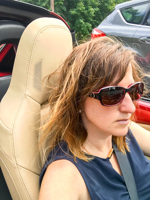 Looking cool in the Mazda Miata MX-5 RF