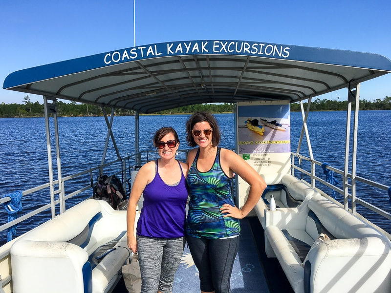 Fadra and Sarah on Coastal Kayak Excursions