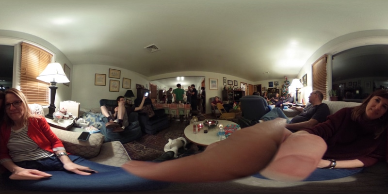 360 degree view of Christmas dinner