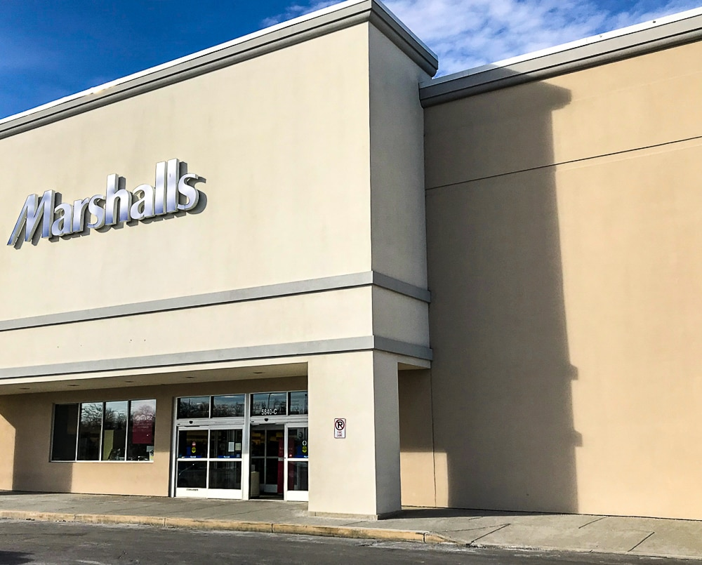 Marshalls storefront in Baltimore
