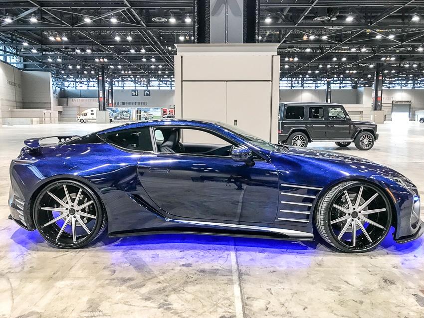 Auto Shows-Lexus LC500 Black Panther