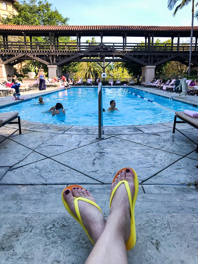 Tidal Flip Flops by the pool