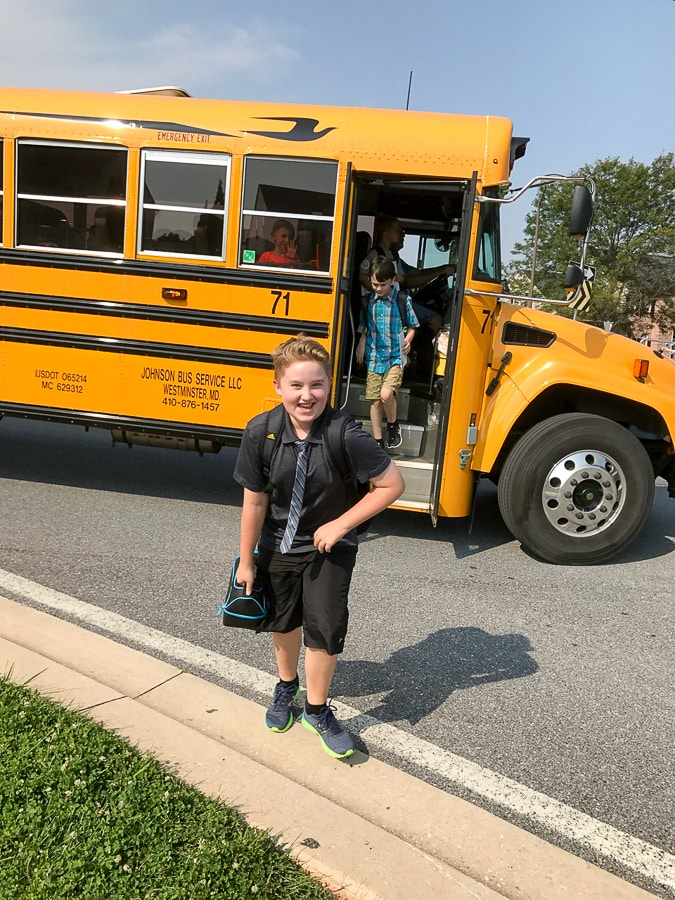 Evan's first day of 5th grade