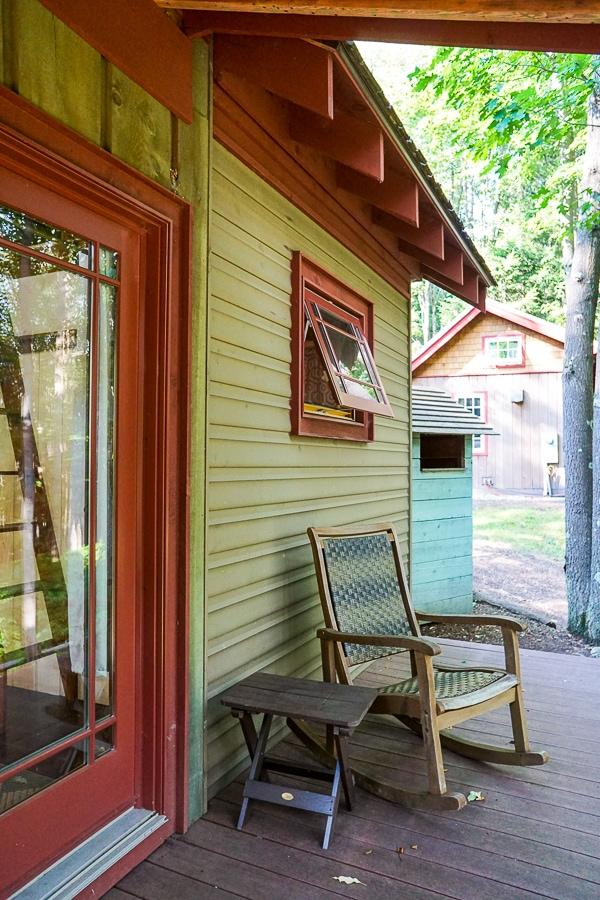 Front porch at Blue Moon Rising