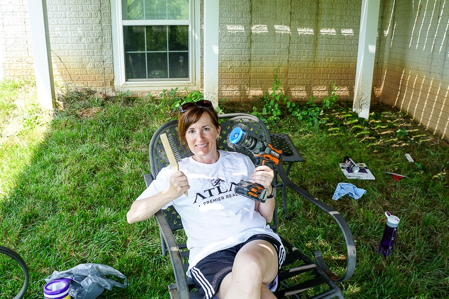 Patio furniture rust removal