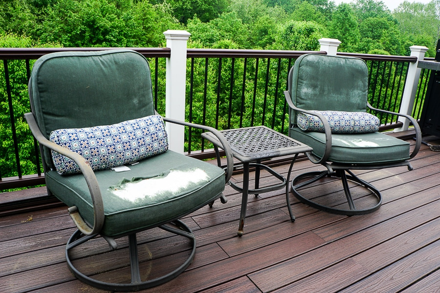 Old rusted patio furniture
