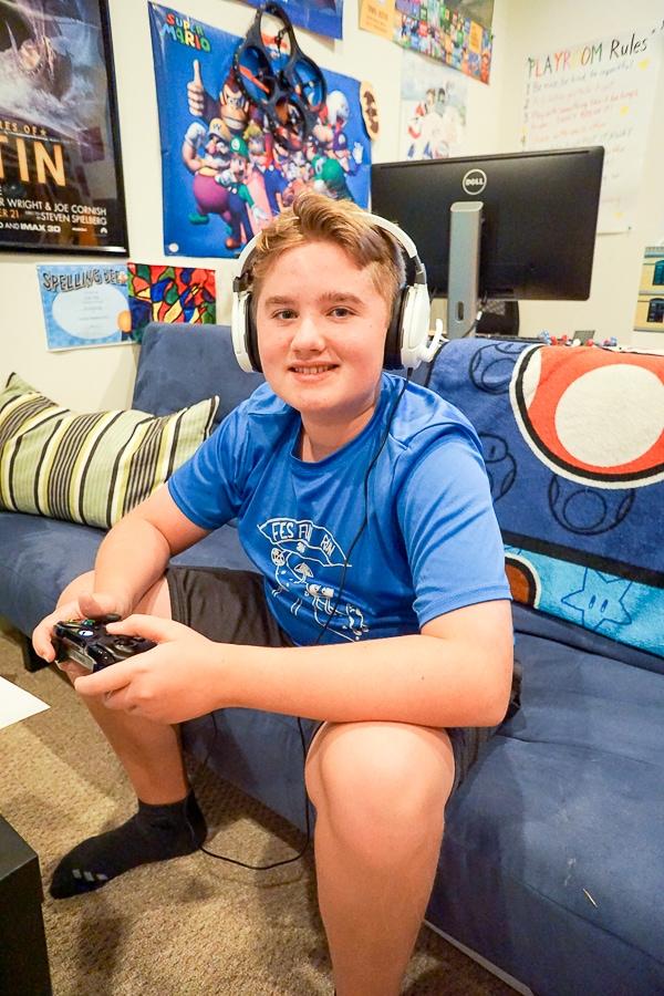 Evan is loving his new Turtle Beach Recon 200 headset