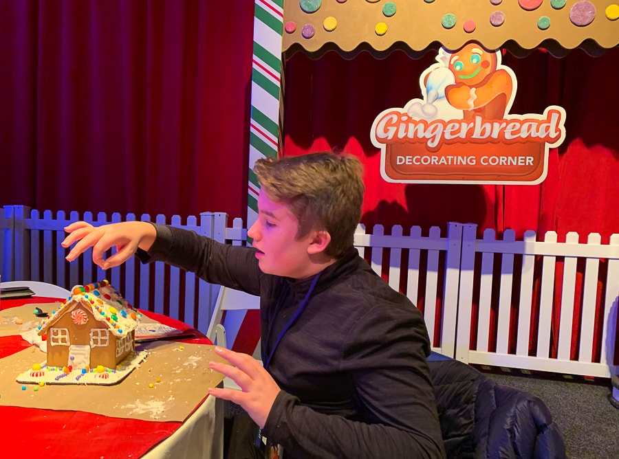 Serious gingerbread decorating at Gaylord National