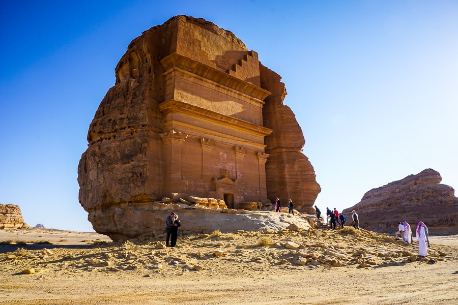 One of the tombs at Mada'in Saleh