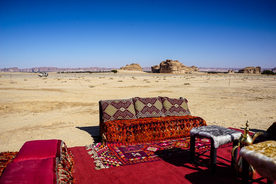 A surreal moment in the desert of Saudi Arabia