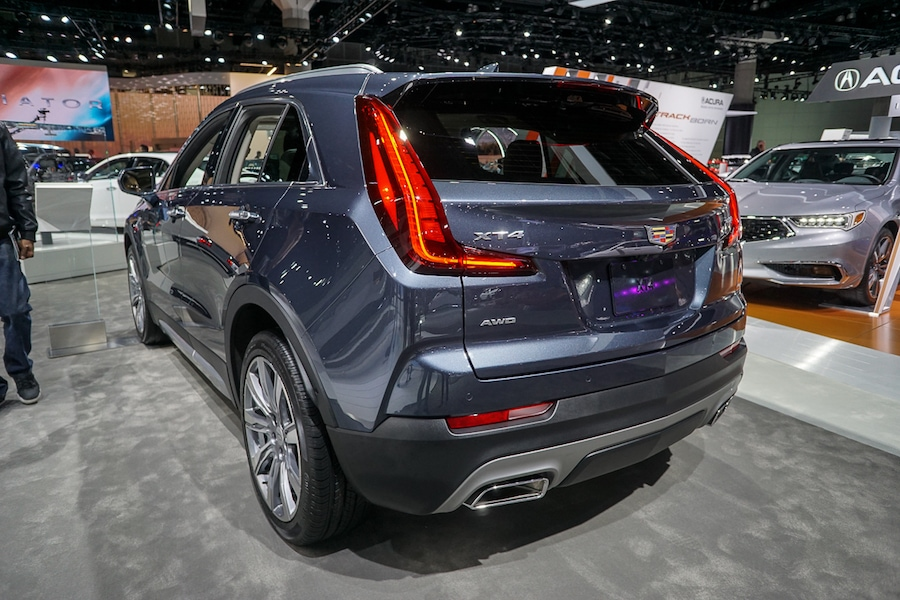 LA Auto Show-Cadillac XT4 rear