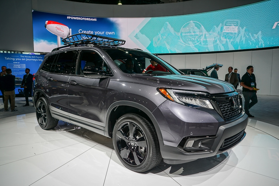LA Auto Show-Honda Passport front
